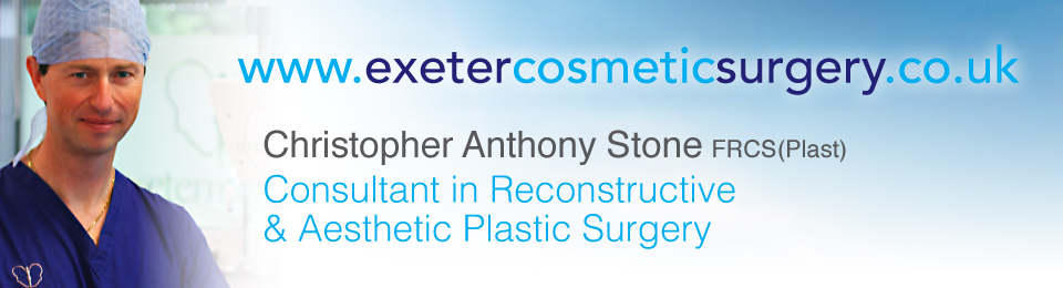 Consultant Plastic Surgeon Christopher Stone's Exeter Cosmetic Surgery Breast & Trunk Specialist Website Header