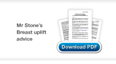 Download Christopher Stone's Cosmetic Surgery Breast Uplift advice sheet