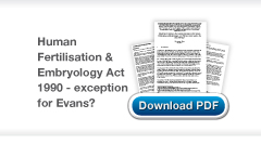 Download Christopher Stone's Should an exception to the consent provisions in the Human Fertilisation and Embryology Act 1990 have been made in the case of Evans publication