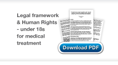 Download Chris Stone's The legal framework empowering children under 18 to make decisions in relation to their medical treatment examined through the prism of international human rights obligations publication