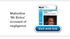 Mail Online - Mr Botox negligence article