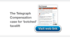 Telegraph Botched facelift article link from Chris Stone Medical & Legal
