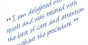 Exeter based Cosmetic Surgeon Christopher Stone's patient testimonials