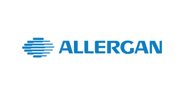 Allergan logo & website link