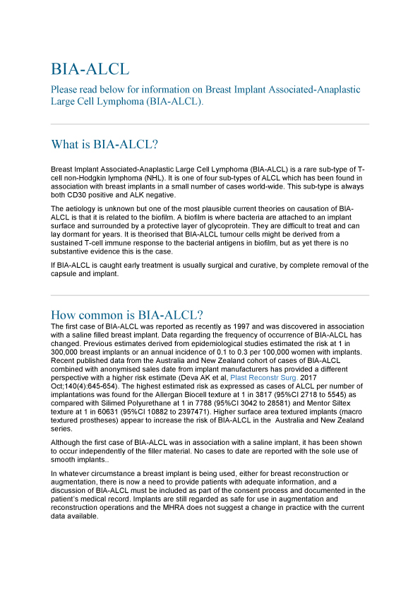 Association of breast surgeons information sheet advice pdf download
