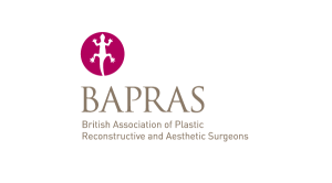 BAPRAS British Association of Plastic Reconstructive and Aesthetic Surgeons logo & website link