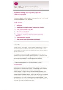 BAPRAS Tummy Tuck Advice pdf download