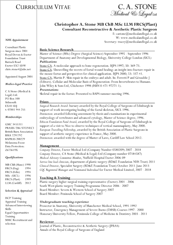 Christopher Stone CV April 2019 download pdf