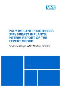 NHS PIP Implant Expert Report advice pdf download