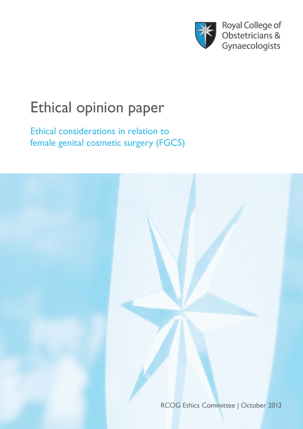 RCOG fgcs ethical opinion paper advice pdf download
